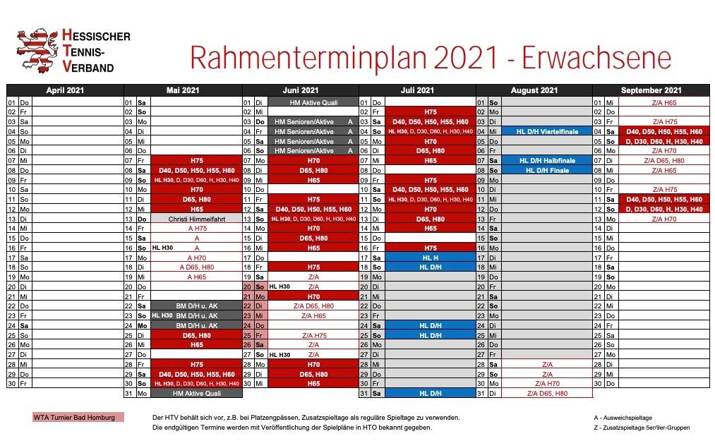 Badischer Tennisverband Spieltermine 2021